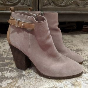 Coach Stacked Heel Ankle Boot